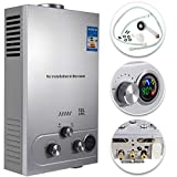VEVOR 12L LPG Warmwasserbereiter Gas Propangas Durchlauferhitzer Warmwasserbereiter Boiler Warmwasserspeicher Tankless Instant mit Duschkopf und LCD Display