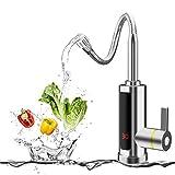 BOOMING 3000W Elektrischer Wasserhahn Durchlauferhitzer Armatur Spültisch LED Temperaturanzeige Heizung Wasserhahn für Küche und Bad (Verwässern)