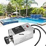 Nannday Poolheizung Elektrisch Thermostat, 220V 3KW wasserdichte Swimmingpool Digitale Thermostat Schwimmbad SPA Whirlpool Elektrische Durchlauferhitzer Badekurort Massage Pumpe Assistent